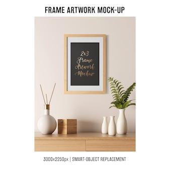 Mockup decorativo de marco