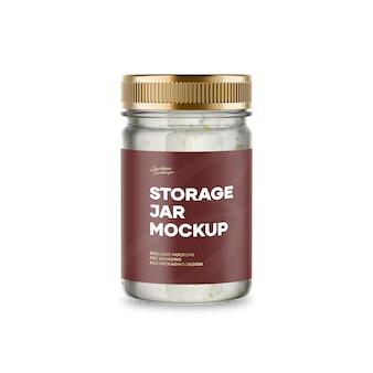 Mockup del barattolo di archiviazione
