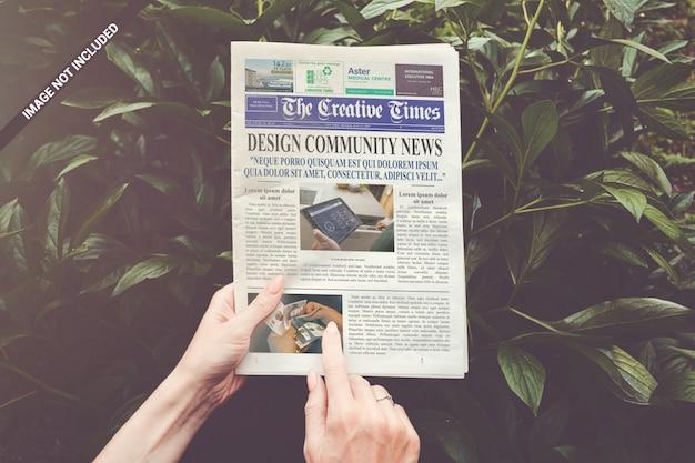 Mockup del giornale