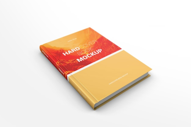 Mockup del libro a copertina rigida