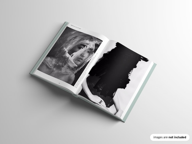 Mockup del libro dalla copertina rigida