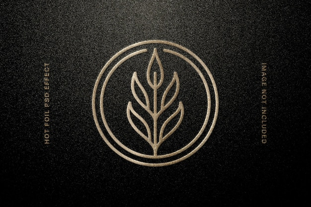 Mockup del logo in rilievo di carta stagnola