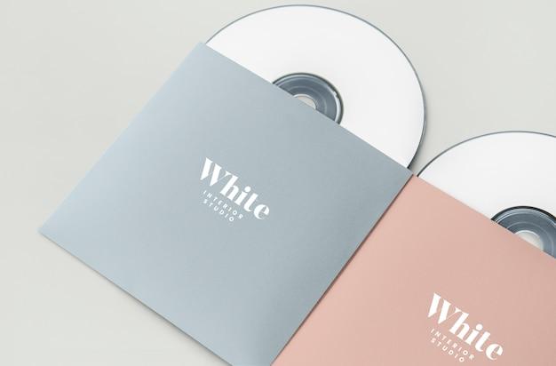 Mockup del pacchetto cd di materiale promozionale
