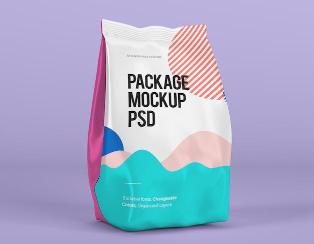 Mockup del pacchetto con design variabile