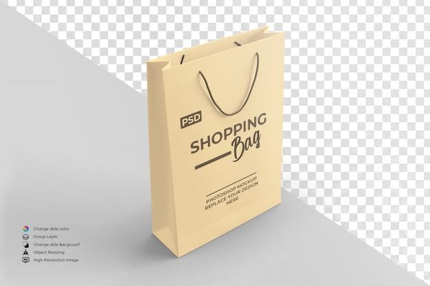 Mockup del sacchetto della spesa di carta