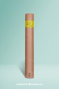Mockup del tubo del cartone