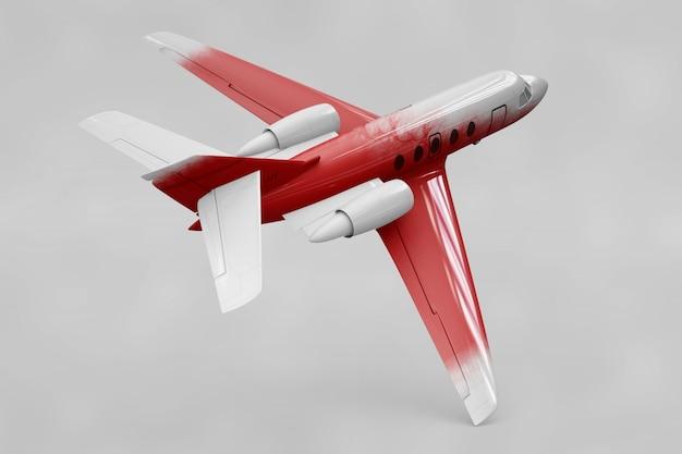 Mockup dell'aereo privato