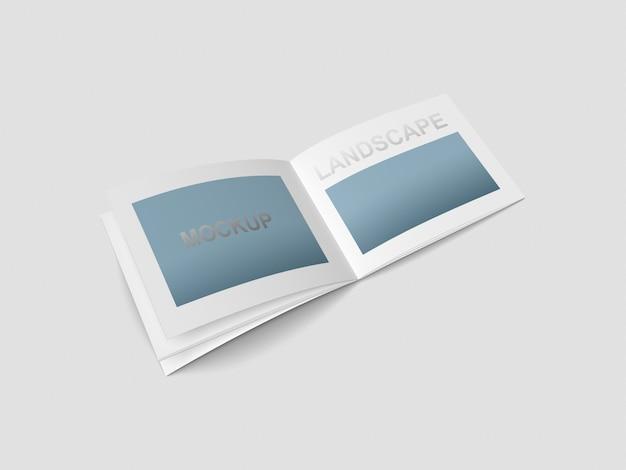 Mockup della rivista a4 landscape