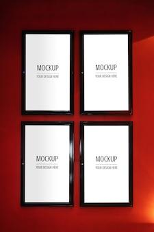 Mockup della scatola luminosa del cinema del manifesto del manifesto della struttura del film