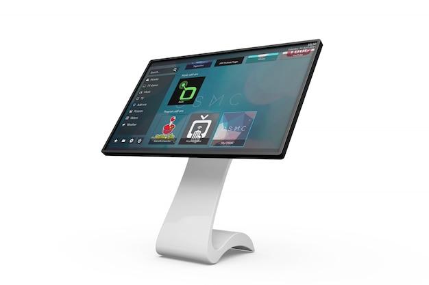 Mockup della scheda informativa touchscreen