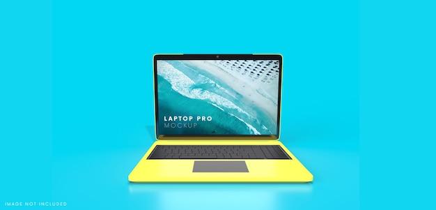Mockup dello schermo del computer notebook