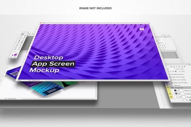 Mockup dello schermo dell'app desktop