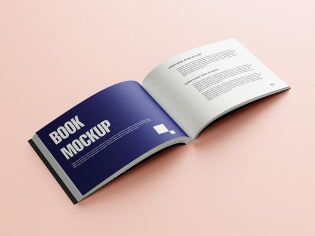 Mockup design a libro a metà piega