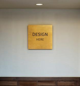 Mockup design qui firma e struttura di cornice e parete