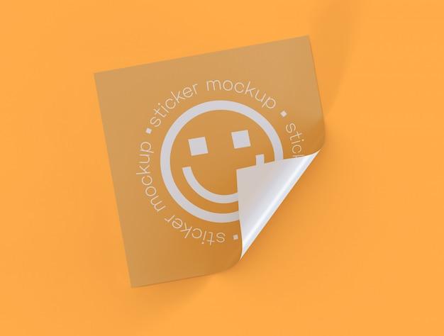 Mockup di adesivo adesivo