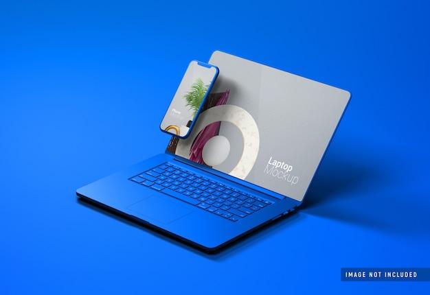 Mockup di argilla macbook pro