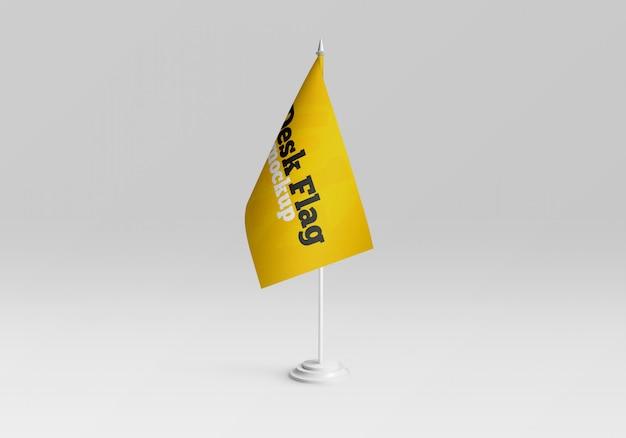 Mockup di bandiera da tavolo