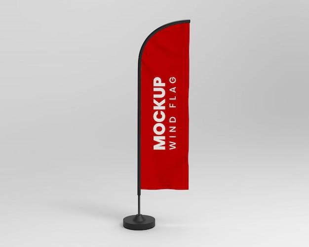 Mockup di bandiera del vento