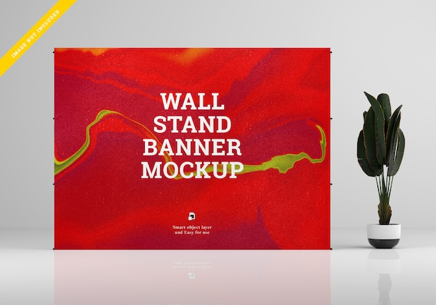 Mockup di banner da parete.