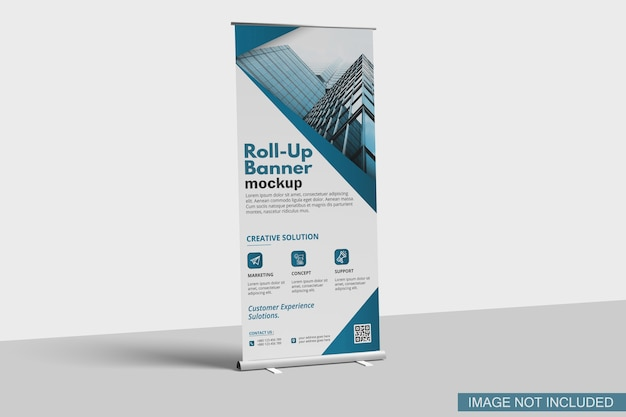 Mockup di banner roll-up
