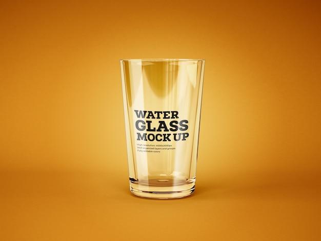 Mockup di bicchiere di acqua e cocktail