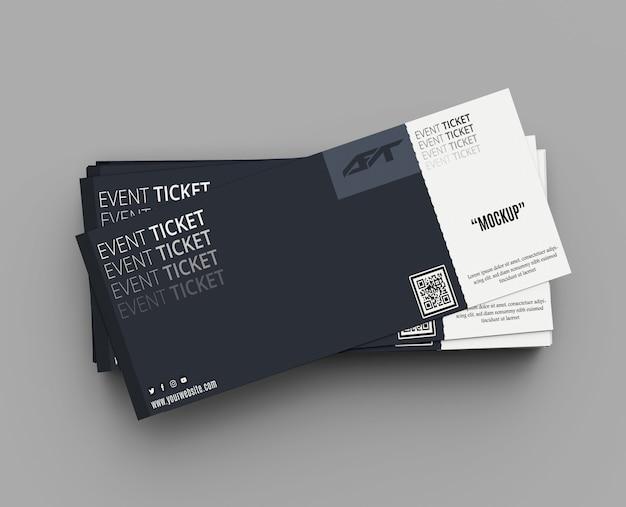 Mockup di biglietti per eventi