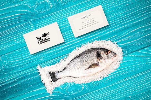 Mockup di biglietto da visita del ristorante di frutti di mare