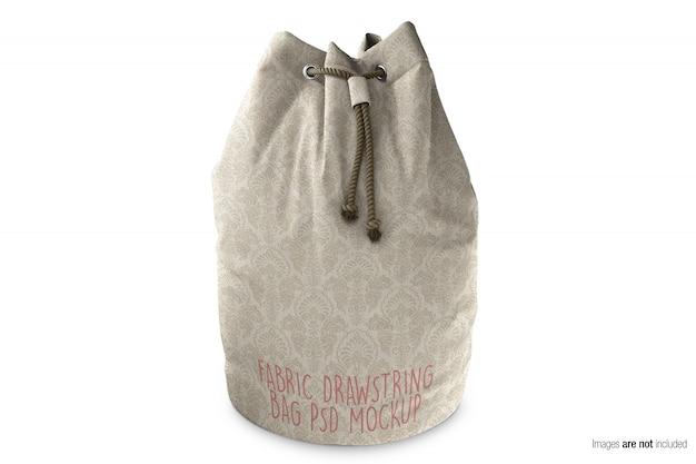 Mockup di borsa con coulisse in tessuto di tela