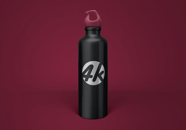 Mockup di bottiglia d'acqua in alluminio