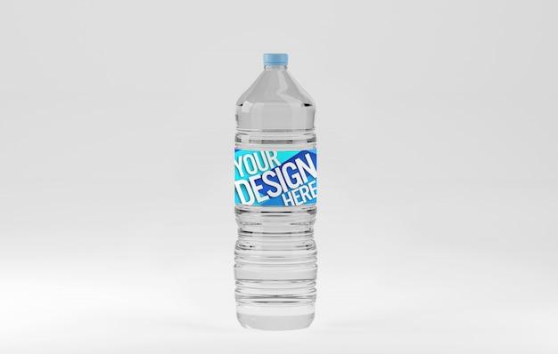 Mockup di bottiglia d'acqua in plastica