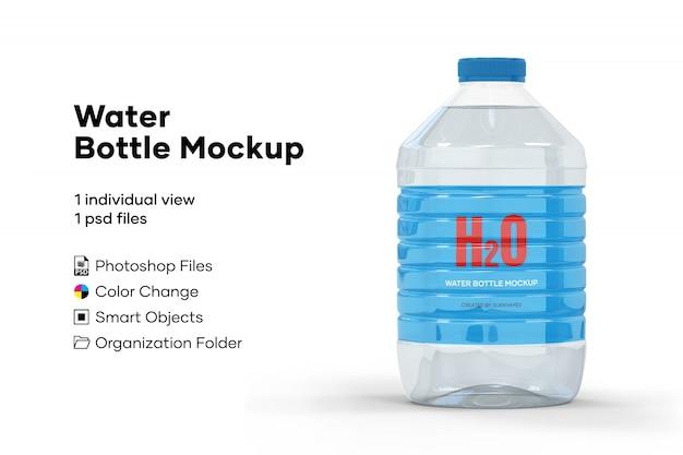 Mockup di bottiglia d'acqua