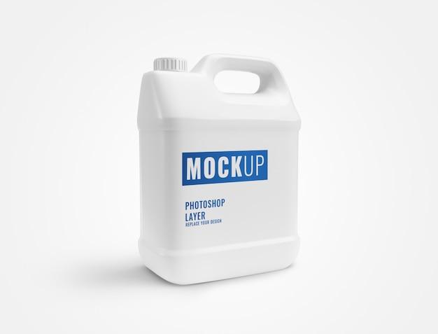Mockup di bottiglia di gallone bianco