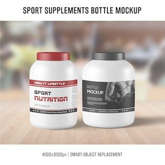 Mockup di bottiglia di supplementi di sport