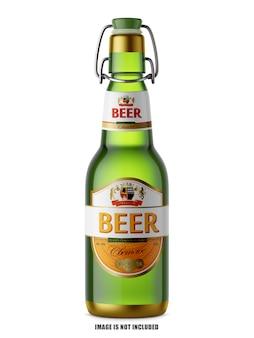 Mockup di bottiglie di birra premium psd