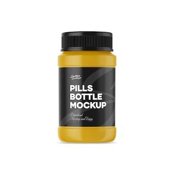 Mockup di bottiglie di pillole