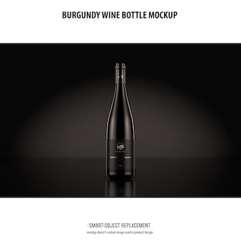 Mockup di bottiglie di vino borgogna