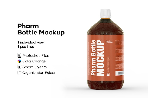 Mockup di bottiglie pharm