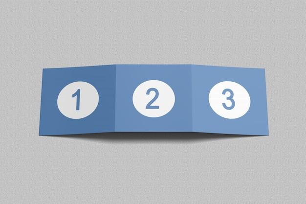 Mockup di brochure a tre ante quadrati