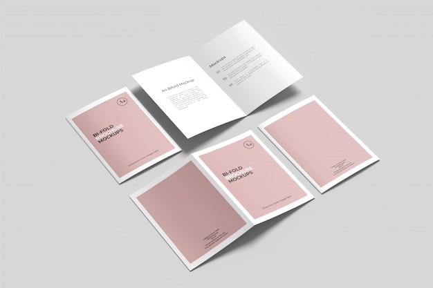 Mockup di brochure bifold a4 / a5