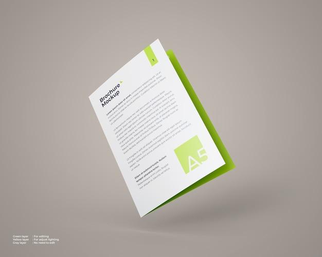 Mockup di brochure bifold a5 volante chiuso