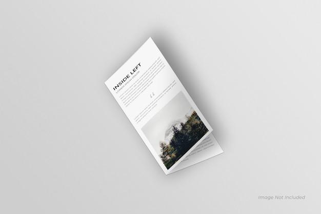 Mockup di brochure bifold dl