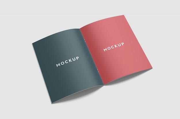 Mockup di brochure / riviste di lettere statunitensi