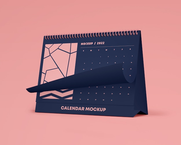 Mockup di calendario da tavolo orizzontale
