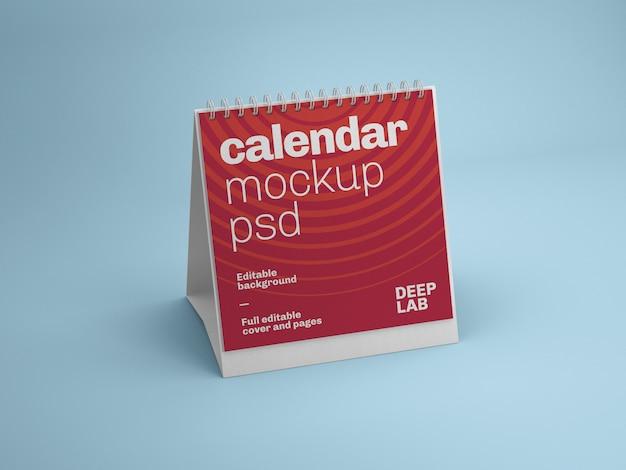 Mockup di calendario square desk