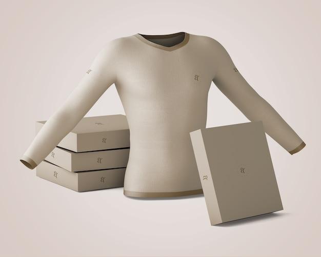 Mockup di camicia e scatola