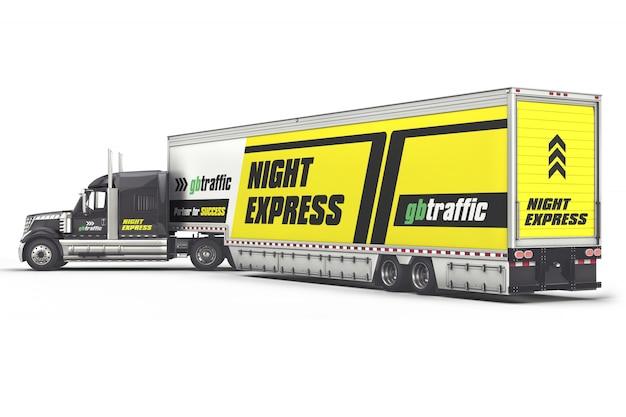 Mockup di camion per veicoli pesanti di branding