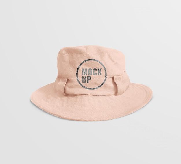 Mockup di cappello pastello
