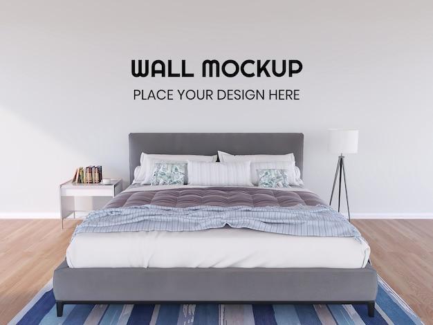 Mockup di carta da parati interna realistica della camera da letto