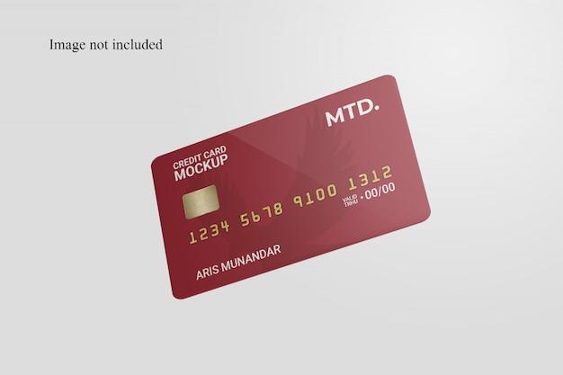 Mockup di carta di credito galleggiante