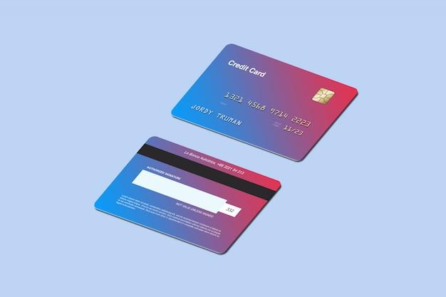 Mockup di carta di credito isometrica
